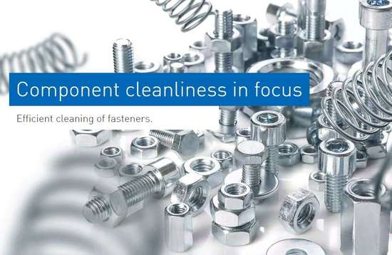 Ecoclean cleaning fasteners